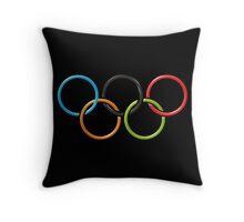 USA Olympic Rings Throw Pillow