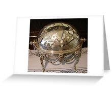 Silver Dish Reflection Greeting Card