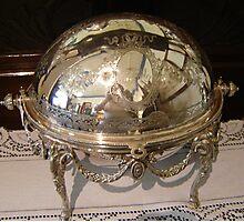 Silver Dish Reflection Photographic Print