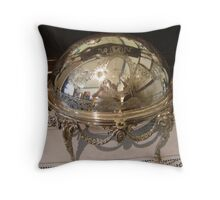 Silver Dish Reflection Throw Pillow