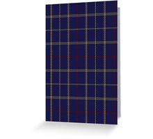 00470 Brooks Brothers Tattersall Blue Fashion Tartan  Greeting Card