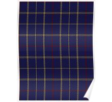 00470 Brooks Brothers Tattersall Blue Fashion Tartan  Poster