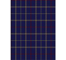 00470 Brooks Brothers Tattersall Blue Fashion Tartan  Photographic Print