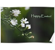 Happy Easter with baby's breath Poster