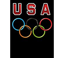 USA Olympic Rings Photographic Print