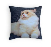 Manfred King of Cattery Throw Pillow