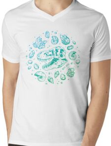 Geo-rex Vortex (blue-green gradient) Mens V-Neck T-Shirt
