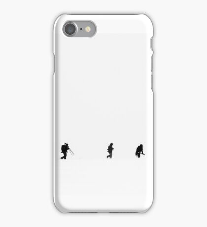 Trekking Through Snow iPhone Case/Skin