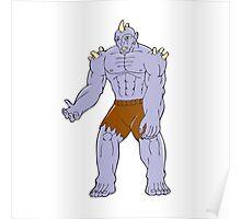 Goblin Monster Horn Cartoon Poster