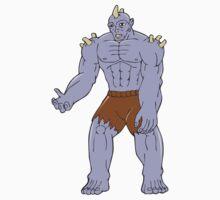 Goblin Monster Horn Cartoon by patrimonio