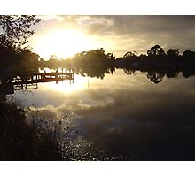 Sunrise on the Prosser River at Orford Photographic Print