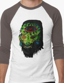 Psychedelic Third Eyed Jesus Men's Baseball ¾ T-Shirt