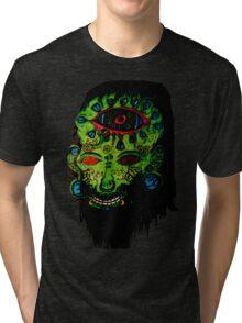 Psychedelic Third Eyed Jesus Tri-blend T-Shirt