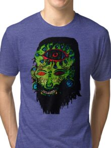 Psychedelic Third Eyed Jesus Tri-blend T-Shirt