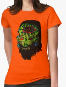 Psychedelic Third Eyed Jesus Womens Fitted T-Shirt