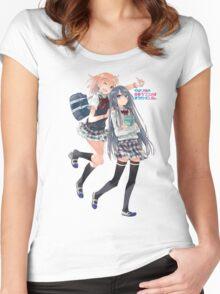 Oregairu - Yukinoshita Yukino, Yuigahama, Yui Women's Fitted Scoop T-Shirt