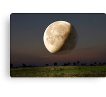 Unreal Moonrise Canvas Print