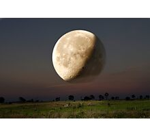 Unreal Moonrise Photographic Print