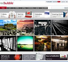 RedBubble Homepage 17th-18th March 2009 by Orla Cahill