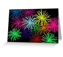 Fireworks by night Greeting Card