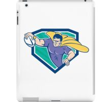 Superhero Rugby Player Scoring Try Crest iPad Case/Skin