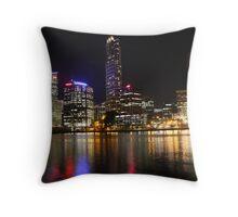 Brisbane by Night Throw Pillow