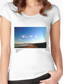 York Beach Maine Women's Fitted Scoop T-Shirt