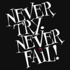 Never try. Never fail! by Antoine de Paauw