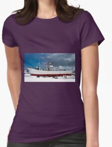 Up On Stilts For Winter Womens Fitted T-Shirt