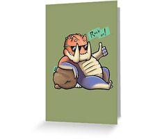 Rock on! - Tetsucabra Greeting Card