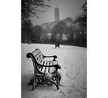 Alone in the snow Photographic Print
