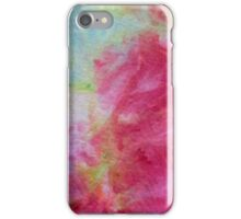 Pink and turquoise ice dye wash iPhone Case/Skin