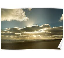 Sunrays over Goolwa Beach Poster