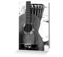 Bongo and Guitar Greeting Card