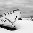 Snowbound Japanese Fishing Dinghy by Heath Carney