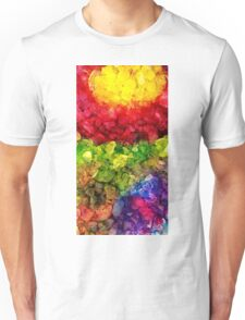 Rainbow dye ice fade Unisex T-Shirt