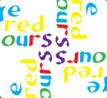Geek colours IV Sticker