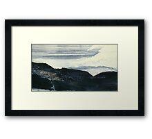 Gerissen  Indigo  -  Torn Indigo Framed Print