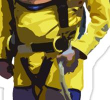 Diver Standing Sticker