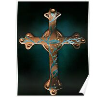 Copper Cross Poster