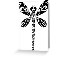 Tribal Dragonfly Tattoo Greeting Card