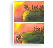 To March On (field version)   Canvas Print
