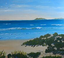 Beach on the North Coast NSW Australia by PamelaMeredith