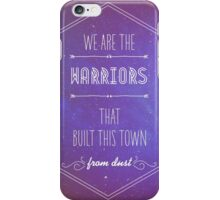 Warriors Lyrics iPhone Case/Skin