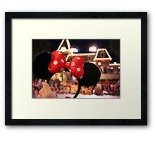 Minnie Mouse Ears on Mainstreet Framed Print