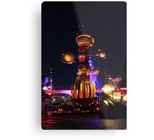 Tomorrowland Astro Orbitor at Night Metal Print