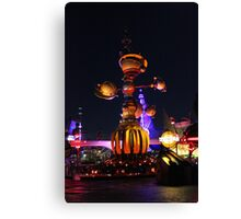 Tomorrowland Astro Orbitor at Night Canvas Print
