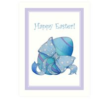 Blue Egg Easter Art Print