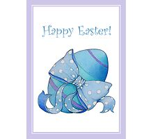 Blue Egg Easter Photographic Print