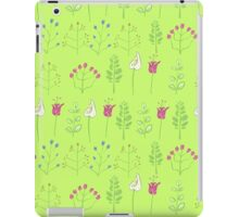 Plants and flowers pattern iPad Case/Skin